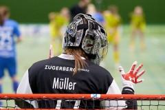 Zug United - Floorball Riders Dürnten-Bubikon-Rüti am  9. Januar 2021 in der Sporthalle der Kantonsschule Zug Bild: Michael Peter